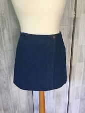 Topshop Denim Wrap Mini Skirt Sz10/36