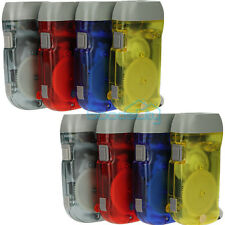 8 x Pack Hand Crank All-Purpose LED Flashlight w' Squeeze Powered Recharge