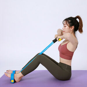 Multi function Leg Tummy Training Foot TPE Fitness Pull Rope Exercise Tools FT