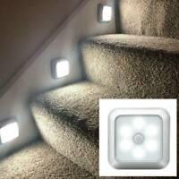 LED Night Light Motion Sensors Wall Closet Cabinet Stair Wireless Light Lamp
