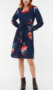 MONSOON-JANICE PRINT FLORAL TUNIC DRESS-Navy-Size 12 or 14 (Brand New With Tag)