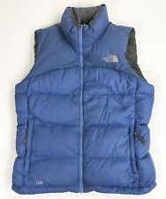 The North Face 700 Goose Down Puffer Ski Vest Women's Medium Blue Puffy Winter