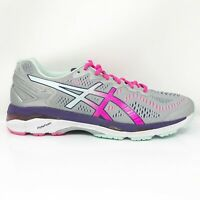 Asics Womens Gel Kayano 23 T697N Gray Pink Running Shoes Lace Up Size 12 D