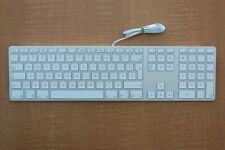 French Canadian Apple A1243 Wired USB Full Size Keyboard Aluminum Ultra Thin (C)