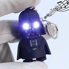 Black Film Star Wars LED Light Darth Vader Up With Sound Keyring Keychain Decor