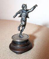 antique miniature German handmade sterling silver dancing figure man male statue