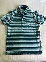 Vineyard Vines Performance Men's S Blue Striped Pima Cotton Polo Shirt