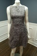 THE LIMITED NWOT black wht texture sleeveless lined dress metallic 10 Sislou R8