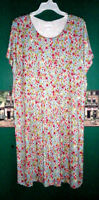 J Jill 2X Dress Layered Rayon Jersey Stretch Knit Multi Color Florals  $109 NWT