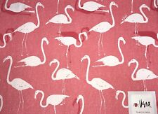 Set of 4 Vera Table Linen Flamingo Placemats Spring Summer Pink White Cotton
