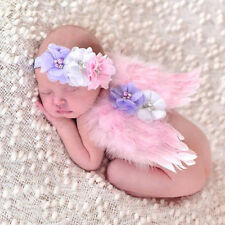 Lovely Baby Newborn Toddler Girls Hairband Wings Photo Prop Costume Outfit