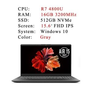 2021 New Ryzen 7 4800U 16GB RAM 512GB NVMe SSD 15.6 inch FHD IPS screen laptop
