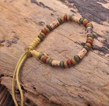 G164 F Handmade Craft Hemp Surfer Wristband Bracelet Bangle Ceramic Clay Beads