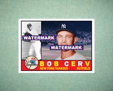 Bob Cerv New York Yankees 1960 Style Custom Art Card