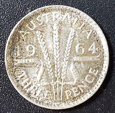 Australia 1964 Argento 3 Tre Pence Moneta, di grado da collezione