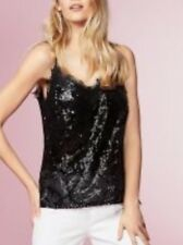 NEXT SIZE 12 BLACK SEQUIN CAMI TOP IDEAL FOR PARTY CHRISTMAS SEASON BNWT RRP £40