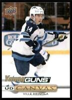 2019-20 Upper Deck Series 1 Canvas Young Guns #C96 Ville Heinola - Winnipeg Jets