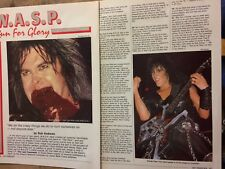 W.A.S.P., Two Page Vintage Clipping, Wasp