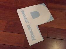 "Powerstroke Decal 12"" P Back Window Decal Sticker Diesel White"