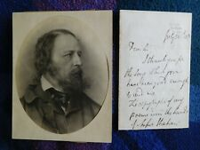 More details for alfred lord tennyson, excellent autograph letter signed about his poems 1872