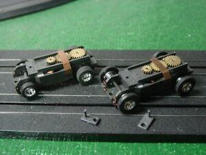 AURORA Model Motoring Used T-Jet Thunderjet Chassis Lot of 2.