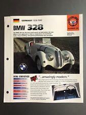 "1936 - 1940 BMW 328 Convertible IMP ""Hot Cars"" Spec Sheet Folder Brochure L@@K"