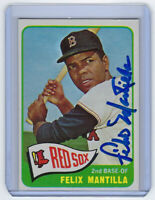 1965 RED SOX Felix Mantilla signed card Topps #29 AUTO Autographed Boston Braves