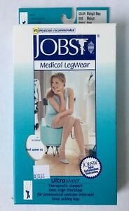 Jobst Knee High Support Stocking Firm Compression 20-30mmHg Midnight Navy M or L