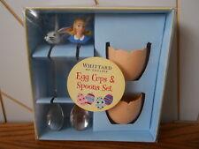 EGG CUP & SPOON SET Alice In Wonderland, 2006 eggcup White Rabbit WHITTARD