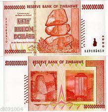 Zimbabwe Billet 50 Milliards DOLLARS 2008 P87 HARARE AA NEUF UNC