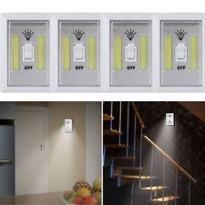 4 X COB LED Wall Switch Wireless Battery Operated Closet Cordless Night Light VP