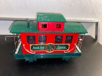 LIGHTED CABOOSE North Pole Express Christmas Train Set EZTEC  G SCALE