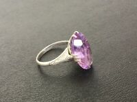 Antique Art Deco Sterling Silver Amethyst? Ring