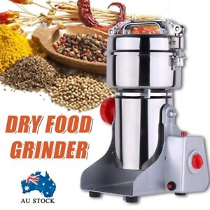 Electric Dry Food Grinder Machine Grains Spices Hebals Cereal Grinding Mill 800g