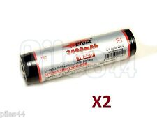 2 Pile 18650 Efest Li-ion 3.7V 3400Mah Protected Accu Battery Rechargeable