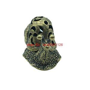 Solid Brass Snail incense burner incense ornament Decoration Animal Figurine