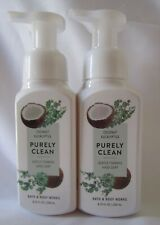 Bath & Body Works Gently Foaming Lot of 2 PURELY CLEAN - COCONUT EUCALYPTUS