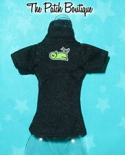 MONSTER HIGH CREATE A MONSTER CAM CAT WITCH DOLL BLACK T-SHIRT SHIRT TOP ONLY