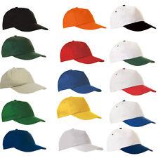 Five-Panel Basecap Mütze Cappie Cap unbedruckt (optional mit Druck) 15 Farben!