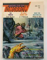WORLDS of TOMORROW  PHILIP K. DICK  JUNE 1964 COVER by  MORROW VINTAGE SCI FI