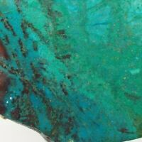 """Parrot Wing Chrysocolla Slab Mexico Lapidary Stone 5.1"""" X 2.7"""" X 1/4"""" 101 Grams"""