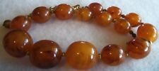 Antique Chunky Genuine Butterscotch Honey Amber Necklace tested Beautiful  Rare