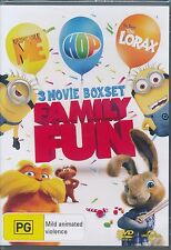 Family Fun 3 Movie Despicable Me Hop The Lorax DVD NEW region 4