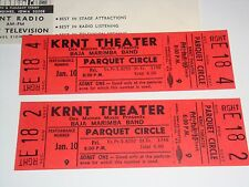 BAJA MARIMBA BAND 1969 UNUSED TICKETS Julius Wechter WILL CALL ENVELOPE KRNT iii