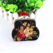 Women's Retro Vintage Flower Small Wallet Hasp Purse Key Holder Clutch Bag CA