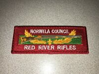 BSA Boy Scouts of America NORWELA COUNCIL - Red River Rifles Issue Pocket Patch