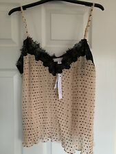 Size 14 Topshop Nude Pink Camisole With Black Lace **Brand New With Tags**