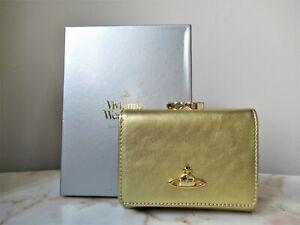 Rare Vivienne Westwood Gold Leather Wallet Purse Boxed