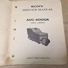 Sony Service Manual for the Avc-4000A Video Camera ~ Repair