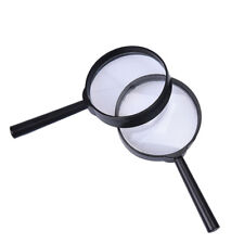 2x 5x magnifier hand held magnifying glass loupe reading jewelry 25mm handheld